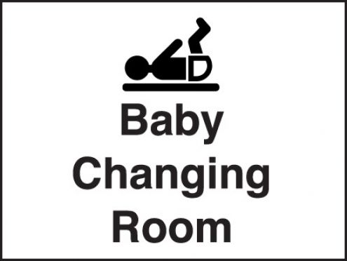Baby Changing Room Sign 150x200mm Plastic