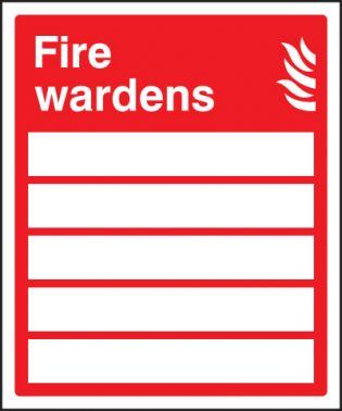 Fire Wardens Sign Rigid Plastic 150 X 200mm 1035 Ssp