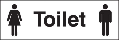 Unisex toilet 300x100mm adhesive backed (57061) | SSP Direct
