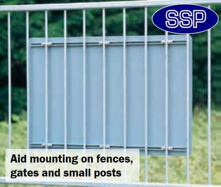 Pair Of Ssp Fence And Gate Fixing Sign Clips 35mm Ssp