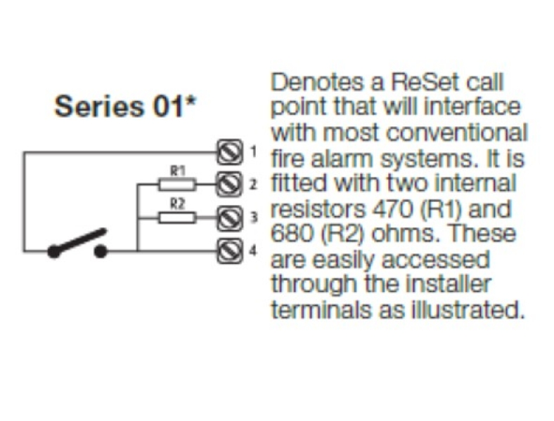 5 x Emergency door release call point replacement element non Waterproof models