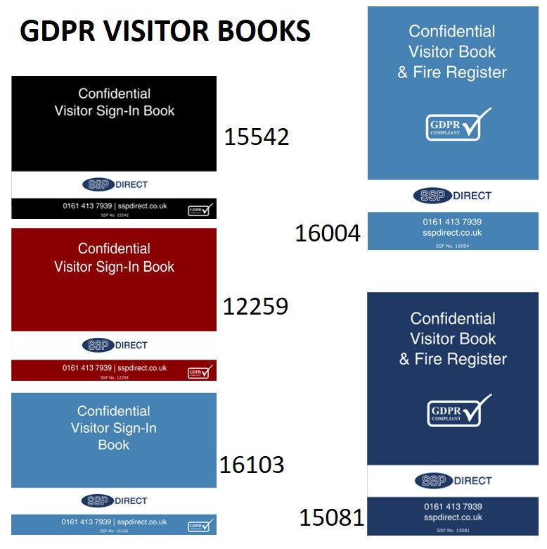 GDPR Confidential Sign-in Visitor Book