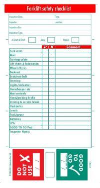 Forklift Truck Safety Inspection System