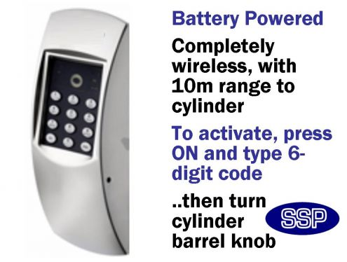 Upvc Keyless Door Entry System With Keypad