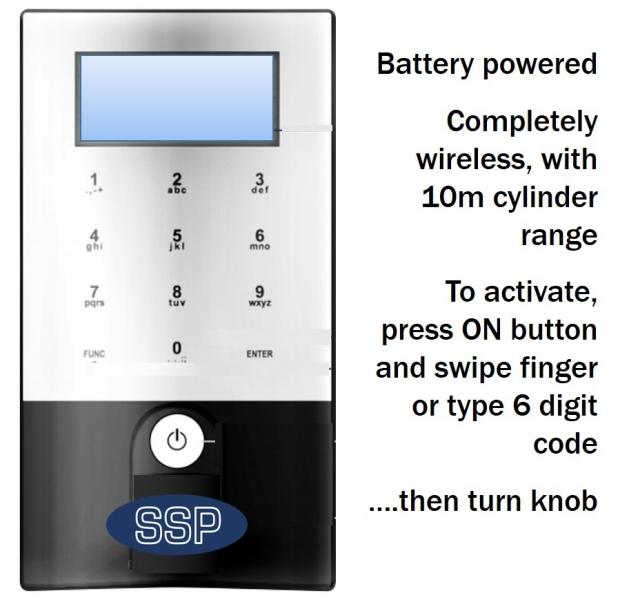 Ssp Upvc Digital Wireless Multi User Door Entry System