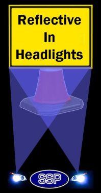 Diversion Right Reflective Traffic Cone Sign