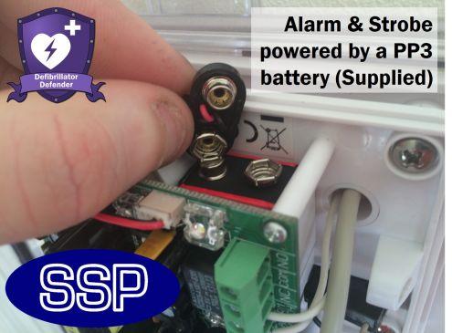 Defibrillator Defender with break seal AED cabinet | SSP Direct