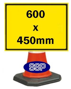 Cone Sign 600 x 450mm
