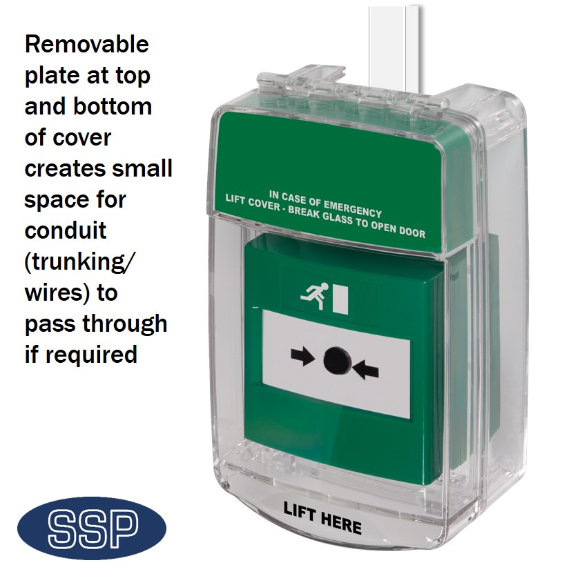 Emergency Exit Door Release Cover With Trunking Pop Outs