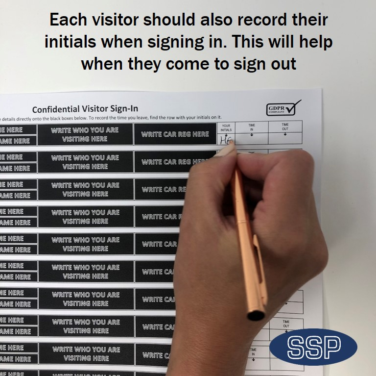 Data Protection GDPR Compliant Visitor Book