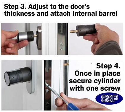 Upvc Keyless Door Entry System With Keypad
