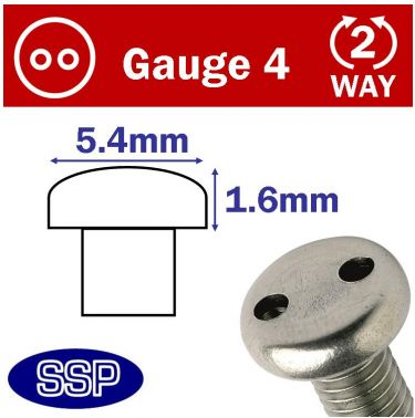 security screw head dimensions